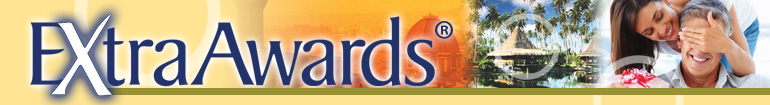 Extra Awards banner with images